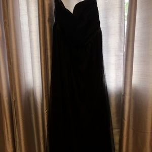 NWT black strapless plus size gown
